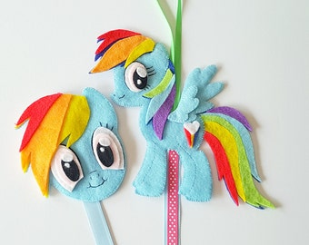 My Little Pony Hair Clip Holder (blue) , hair clip organizer