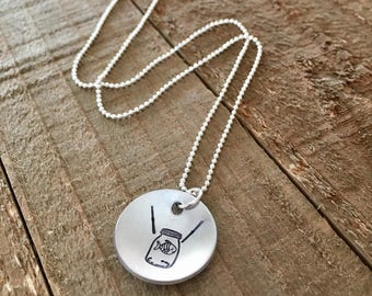 """What About Bob necklace-Gil necklace-funny necklace-3/4"""" handstamped necklace-gift"""