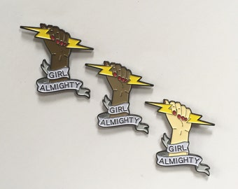 Girl Almighty Lightning Bolt Enamel Pin