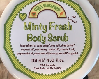 Skin: Minty Fresh Body Scrub - 4 oz