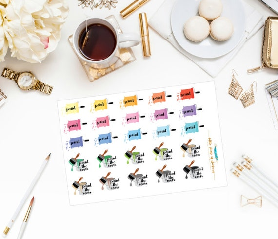 Paint The Room || Painting Planner Stickers, Item Stickers, Planner Stickers, Planner Decor, Decorating Stickers