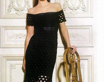 Little black dress made crochet / custom