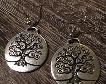Large tree of life earrings