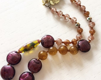 Sahara glass necklace