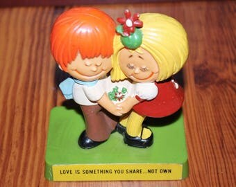 Vintage R & W Berries Love is Something You Share Not Own Figurine Statue 1971