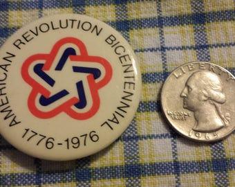 Vintage Bicentennial  pinback button