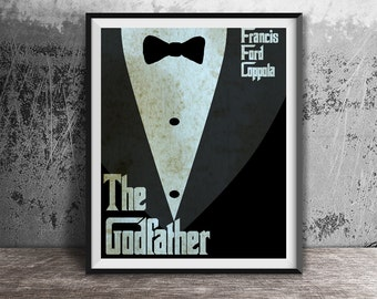 Movie poster print,The Godfather-the movie print,Film print,Minimalistic movie art printables,Alternative movie poster,Instant ownload