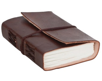Gusti leather 'Jasmin' leather notebook B7