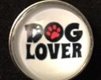 Dog Lover?  Here you go!!!  20mm Interchangeable Snap that will fit your 18mm and 20mm Snap Jewelry