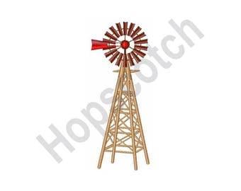 Farm Windmill - Machine Embroidery Design