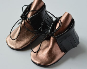 The Mae Moccasin Bootie // Moccasins // Baby Boots // Moccasin Booties