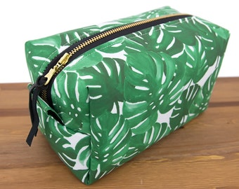 Honeymoon Gift - Make Up Bag - Large Makeup Bag - Monstera Leaf Bag - Makeup Organizer - Travel Gift for Women - Makeup Storage - #14