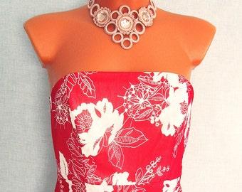 Колье Анжелика - украшение на шею Angelica Necklace - Decoration on the neck with Czech rhinestones
