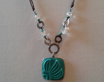 Silpada .925 Sterling Silver Aqua Grace Necklace PRICE LOWERED!
