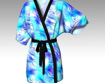 Kimono Robe, Draped Kimono, Dressing Gown, Beach Coverup, Bridesmaid Robe, Lounge Wear, Swimsuit Coverup, Swim Coverup, Women Clothing, Gift