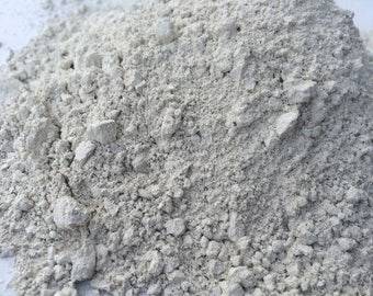 WHITE clay powder (grind) natural for mask, facial detox and cosmetic+Free Samples (Russian clay)