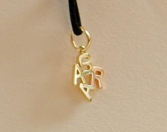 "Yellow Gold Pendant ""SARA"""