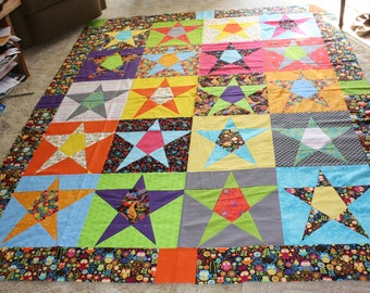 Field of  Stars  quilt top