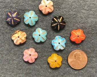 Czech Glass Flower Beads
