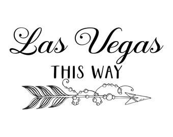 Las Vegas This Way (right arrow)