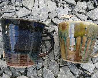 Handmade Stoneware Pottery Ceramic Cup/Mug 400 flared Cup