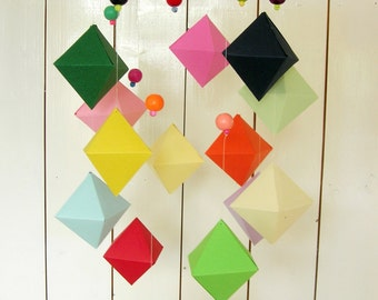 Geometric multicolor Mobile.