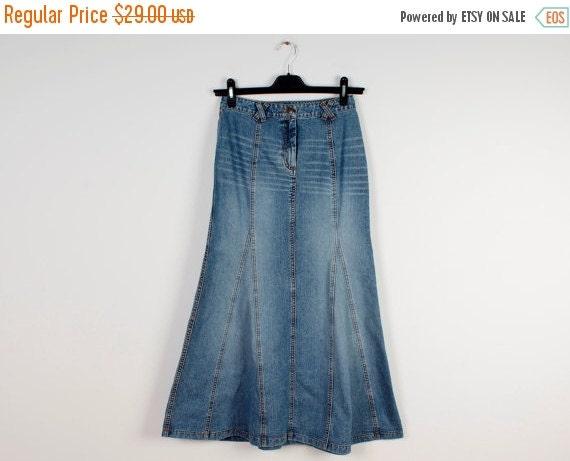 on sale denim trumpet skirt sky blue by leatheranddenim