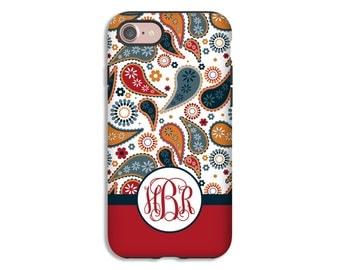 Fall iPhone 7 case, autumn paisley iPhone 7 Plus case, fall paisley iPhone SE case, iPhone 6s/6s Plus/6/6 Plus/5s/5 cases, 3D iPhone case