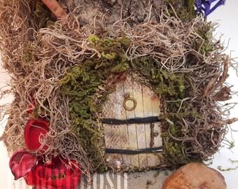 Fairy garden/ Fairy garden door/ Minature Fairy/ Garden Decor/ gift ideas/garden fairies/fairydoor/hobbit house. Magical fairy door,ooak