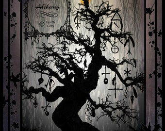 THE WITCHING TREE Digital Art Print