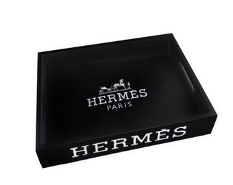 Hermes Paris black tray
