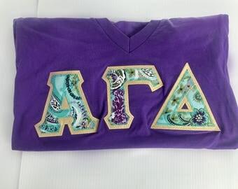 Sorority Greek Letter Shirt