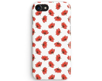 Floral tulips - iPhone 7 case, Samsung Galaxy S7 case, iPhone 6, iPhone 7 plus, iPhone SE, iPhone 5S, 1C076A