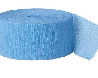 81ft Blue Crepe Paper Streamers