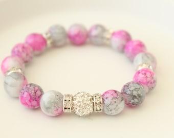 Glass Bead Bracelet - Bohemian Jewelry - Glass Jewelry - Boho Bracelet - Gift for Sister - Glass Bracelet - Gift for Her - Gift for Teacher