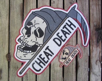 Cheat Death (Back) Patches 2-Pack