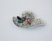 Rhinestone Hat Needleminder / Gemstone Needleminder / Hat Needleminder