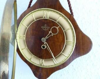 Anker clock vintage clock wood working mid century clock horloge