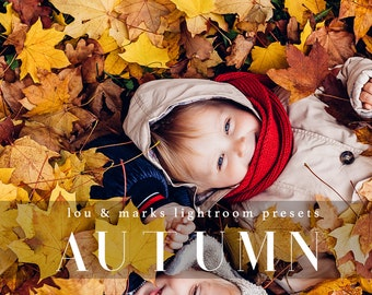 32 Autumn Glow Lightroom Presets Professional Photo Editing for Portraits, Newborns, Weddings By LouMarksPhoto
