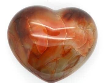Polished Carnelian Heart Stone – 504g