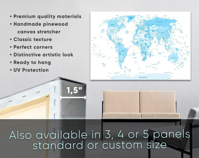 15 off coupon on large blue highly detailed world map with large blue highly detailed world map with countries and cities blue push pin world map gumiabroncs Image collections