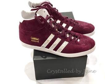 Custom Crystal Adidas Trainers Swarovski Bespoke - send me your trainers!
