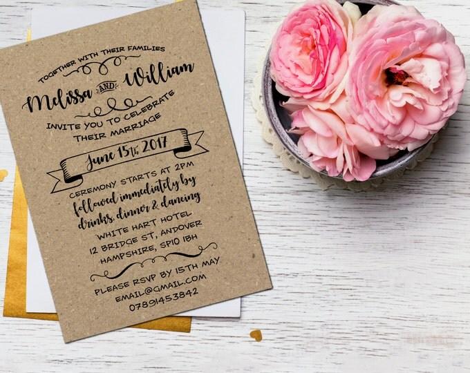 Modern calligraphy wedding invitations uk yaseen for