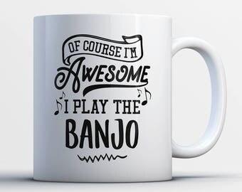 Banjo Gifts - Funny Banjo Player Mug - Banjo Coffee Mug - I Play The Banjos - Best Gifts for Banjo Players