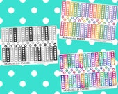ECLP Horizontal Checklists, Choose Your Style {50 Fancy Matte Repositionable Planner Stickers, ECLP Horizontal} | #17-234