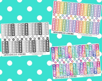 ECLP Horizontal Checklists, Choose Your Style {50 Fancy Matte or Glossy Planner Stickers, ECLP Horizontal} | #17-234