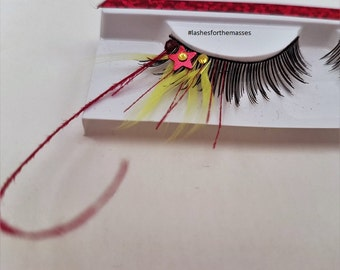 Fun and Feisty Feather Eyelashes