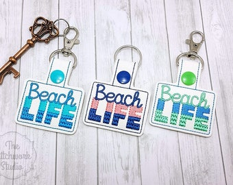Ready To Ship! Beach Life Keychain - Key Fob