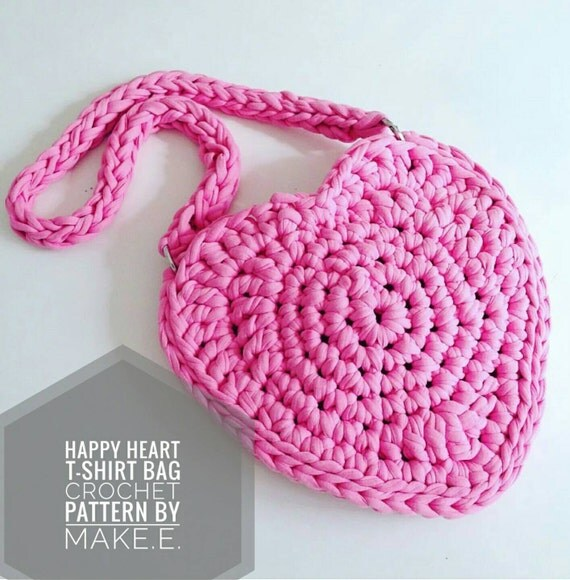 Small Childrens Happy Heart Bag UK Crochet Pattern PDF