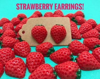 Strawberry Stud Earrings!